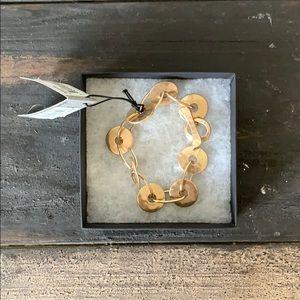 Robert Lee Morris Soho - gold tone disc bracelet